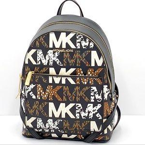 Michael Kors Adina Medium Backpack Black Black multi color